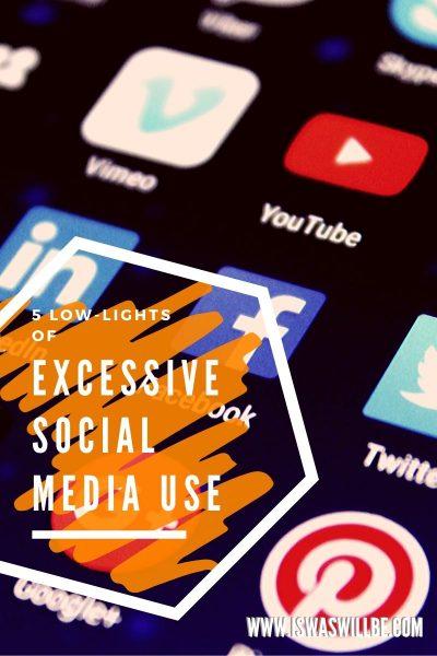 social media icons on screen