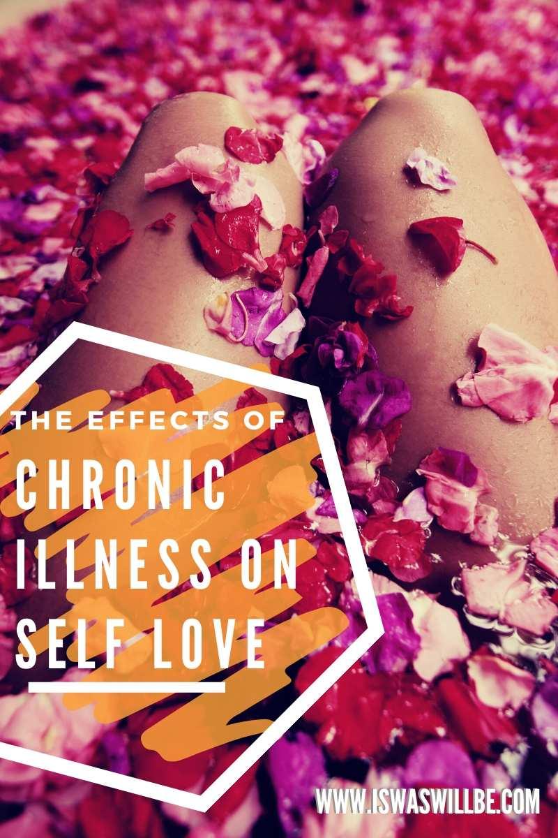 chronic illness self love blog graphic