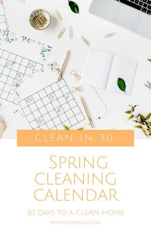 Spring Cleaning Challenge Calendar