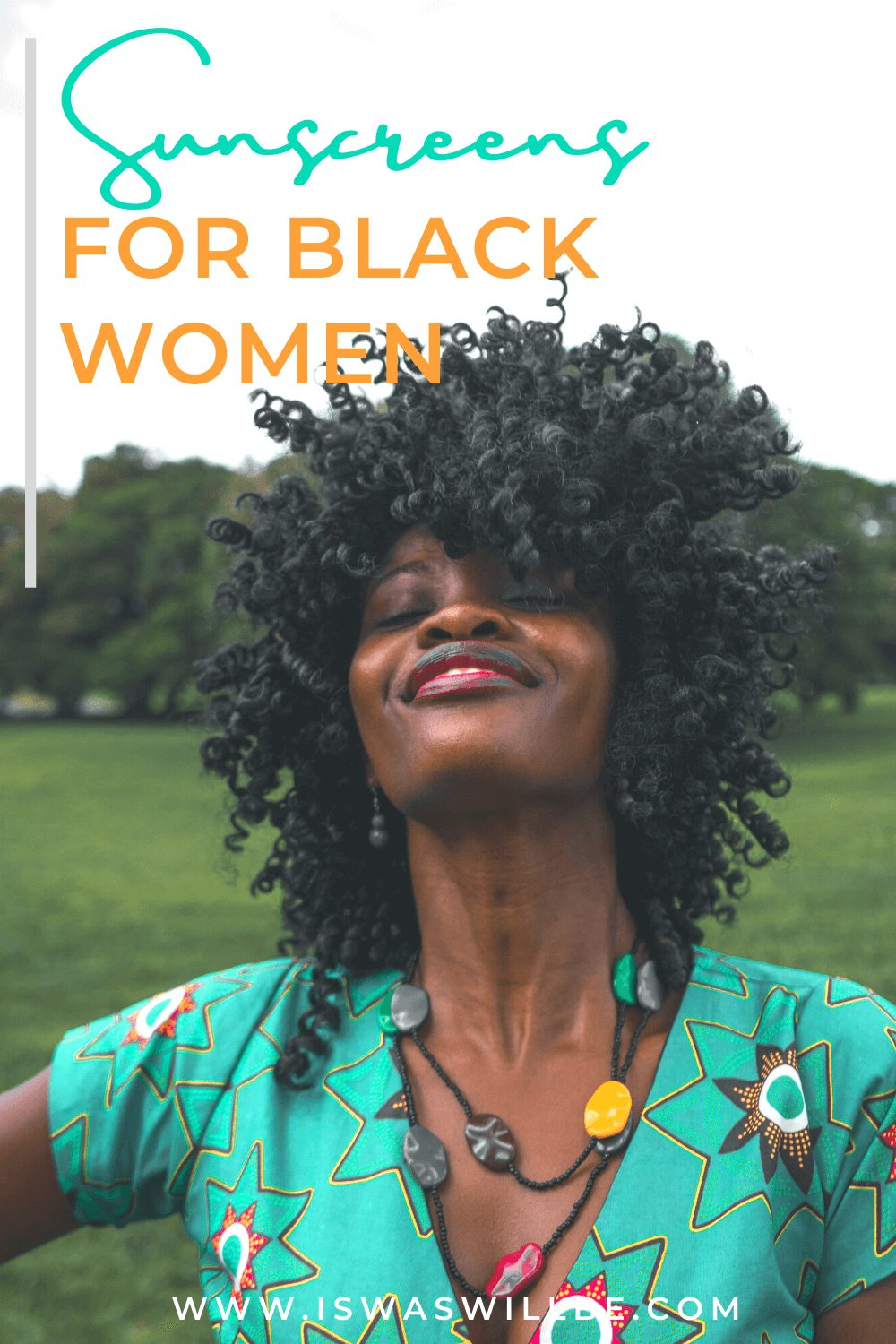 sunscreens for black woman graphic